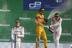 Podium: Antonio Giovinazzi, PREMA Racing Raffaele Marciello, RUSSIAN TIME and Gustav Malja, Rapax