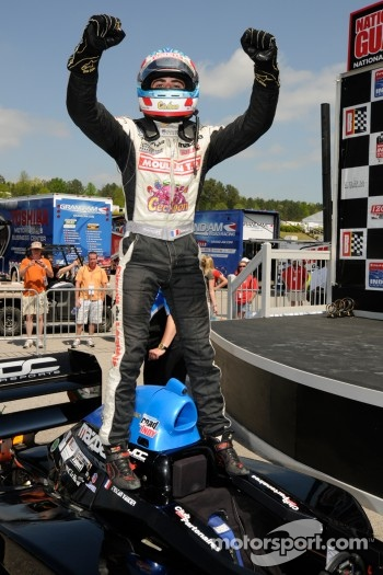Race winner Tristan Vautier celebrates