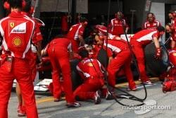 Scuderia Ferrari practicing pitstop