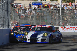 Contact for #32 GMG Racing Porsche 911 GT3 Cup: Bret Curtis, James Sofronas and #66 TRG Porsche 911 GT3 Cup: Duncan Ende, Spencer Pumpelly