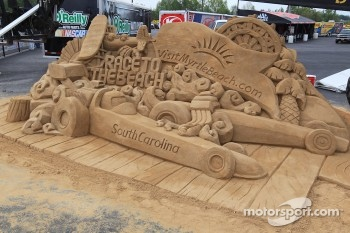 Sand Sculpture at theVisitMyrtleBeachcom NHRA Four-Wide Nationals