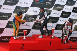 Champagne for Felipe Nasr and Rupert Svendsen-Cook