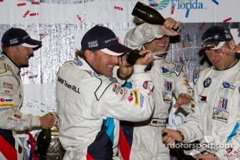 GT podium: champagne celebrations