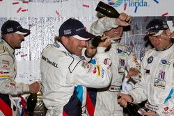 GT podium: champagne celebrations