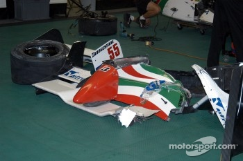 Damage from Rodolfo Lavin's car
