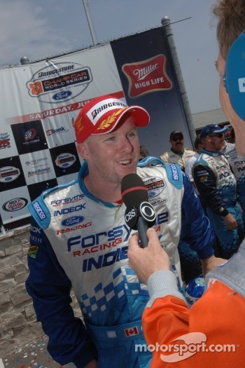 Interview for race winner Paul Tracy