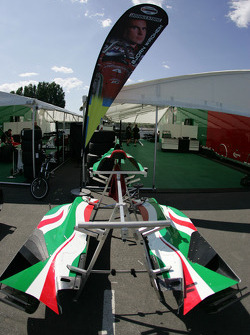 Body parts of the HVM Racing car