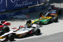 First turn: Oriol Servia and Alex Tagliani