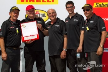 Podium: team award to #91 Ferrari of Ft. Lauderdale Ferrari F430 Challenge crew of Guy Leclerc