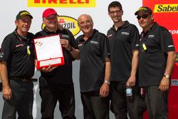Podium: team award to #91 Ferrari of Ft. Lauderdale Ferrari F430 Challenge crew of Guy Leclerc