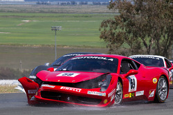 Start: #9 Ferrari of Beverly Hills Ferrari 458 Challenge: Jay Lee after his crash