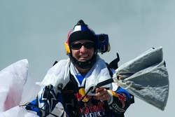 Red Bull skydiver