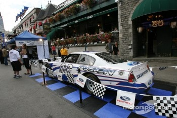 Ford Racing Festival on Crescent street: a CASCAR car on display