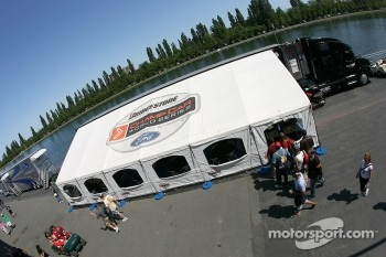 Champ Car hospitality area