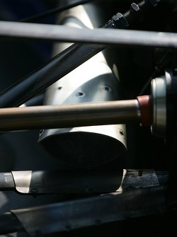 Detail of an exhaust pipe