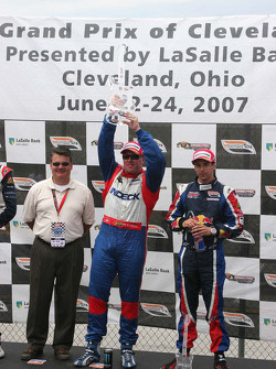 Victory circle: Cleveland Grand Prix winner Paul Tracy