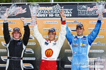 Podium: race winner Sébastien Bourdais, second place Dan Clarke, third place Graham Rahal