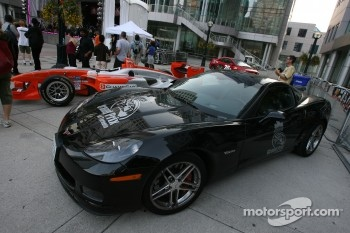 Street party: Corvette pace car on display