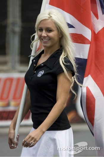 Flag girl