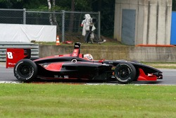Braking for the hairpin, Alex Tagliani