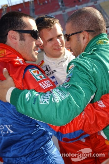 Dario Franchitti, Dan Wheldon and Tony Kanaan