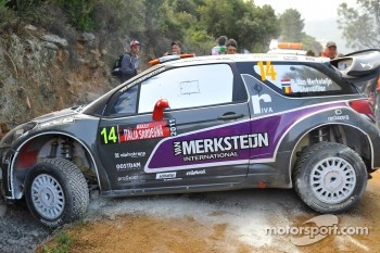 Crash for Peter van Merksteijn and Eddy Chevaillier, Citro_´n DS3 WRC