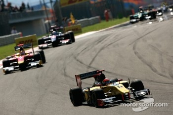 Romain Grosjean leads Dani Clos and Charles Pic