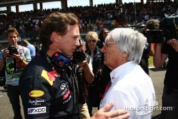 Christian Horner, Red Bull Racing, Sporting Director with Bernie Ecclestone