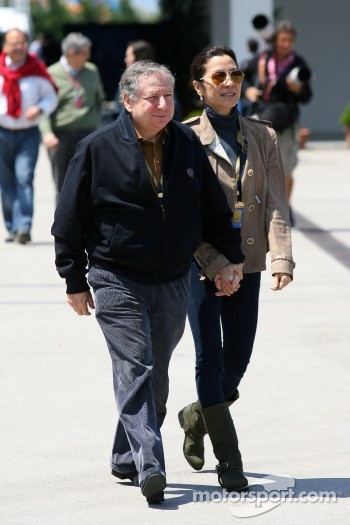 Jean Todt, FIA president, Michelle Yeoh, girlfriend of Jean Todt