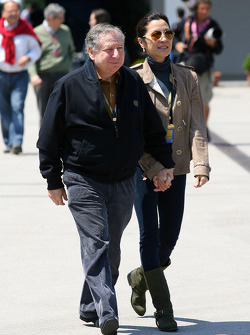 Jean Todt, FIA president, Michelle Yeoh, girlfriend of Jean Todt