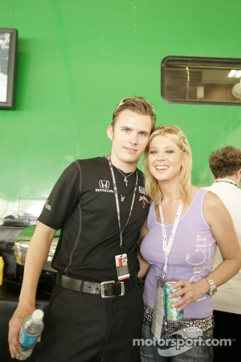 Dan Wheldon and Tara Reid