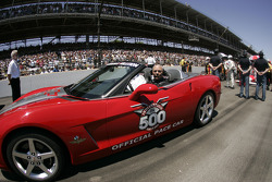 Colin Powell in the pace car