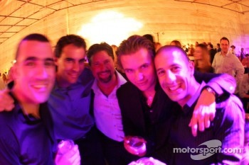Dario Franchitti, Bryan Herta, Michael Andretti, Dan Wheldon and Tony Kanaan