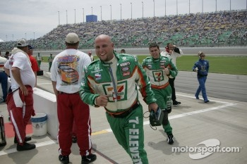 Andretti Green crew members head to victory lane