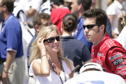 Sam Hornish Jr. with wife Crystal