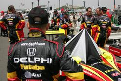 Delphi Fernandez Racing crew members before the race