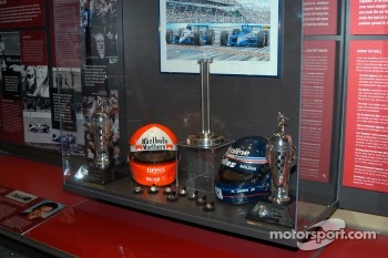 Al Unser, Jr. display in Indy 500 room