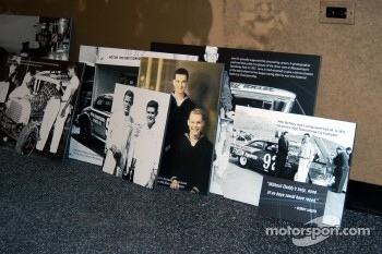 Photos awaiting mounting in Jerry's Garage