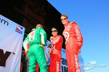Scott Dixon, Dan Wheldon and Tony Kanaan