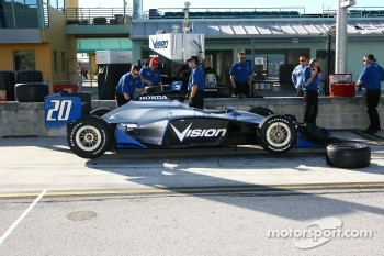 The car of Ed Carpenter prepared for testing