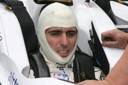 Dario Franchitti straps in for practice