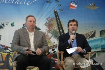 Indy Racing League President and Chief Operating Officer Brian Barnhart, left, and Indianapolis Motor Speedway President and Chief Operating Officer Joie Chitwood