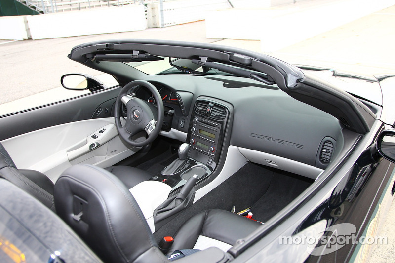 The stylish interior of one of the 2008 Chevrolet Corvette Indy 500 Pace Cars
