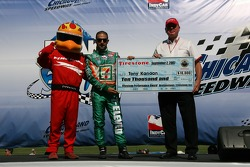 Firestone performance award check presented to Tony Kanaan