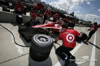 Chip Ganassi Racing team members pratice pitstops