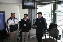 Retired Purdue University Head Coach, Gene Keady gets tour of track with COO/President Joie Chitwood and IndyCar Series President Brian Barnhart
