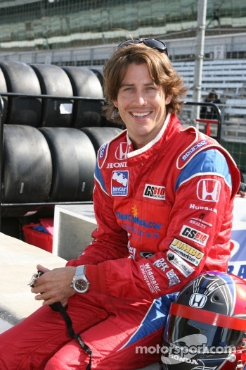 Arie Luyendyk Jr. takes a teacher on a two-seater ride around the track