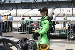 Scott Sharp prepares to qualify