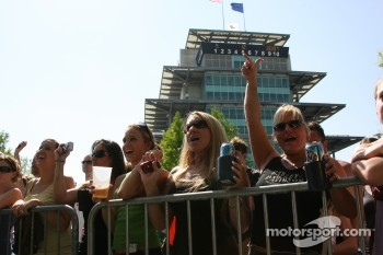 Fans cheer their favorite drivers