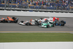 Danica Patrick and Ed Carpenter involved in a crash